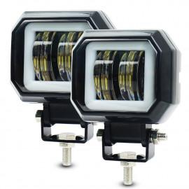 Светодиодные фары дополнительного света (к-т) 40 Вт с ДХО