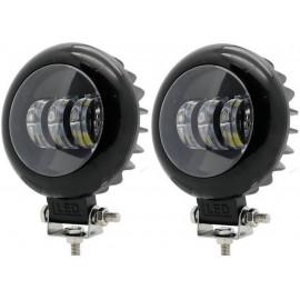 Светодиодные фары дополнительного света (к-т) 60 Вт круглые